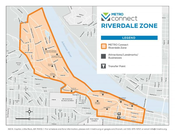 JPG of METRO Connect Riverdale Zone Map 2020